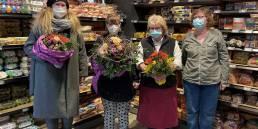 Anke Kolli (Access), Julia, Birgit Degen und Cordula Voigt freuen sich über die 10-jähige Zusammenarbeit (v.l.n.r.).